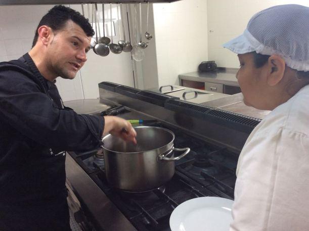 David ariza cocinando